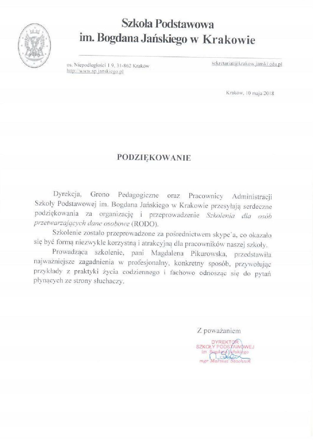 Szkoła podstawowa im.Bogdana Jańskiego w Krakowie