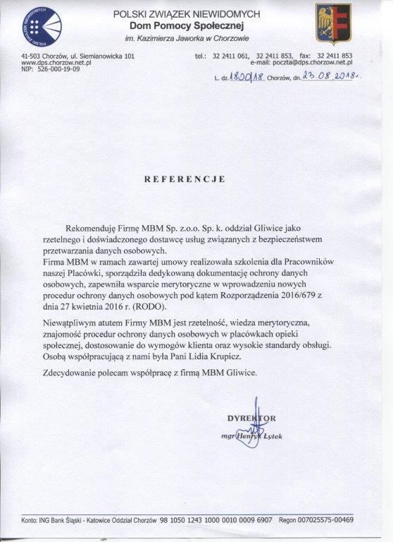Polski związek niewidomych Dom Pomocy Społecznej Im. Kazimierza Jaworka w Chorzowie